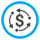 arrow, circulation, cycle, dollar, finance, financial, money rotation icon