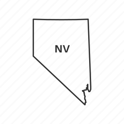 america, american state, borders, map, nevada, state, usa icon