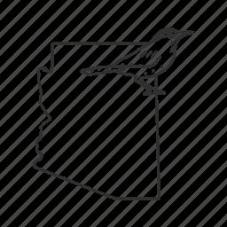 arizona, borders, map, state, state bird, state symbol, usa icon