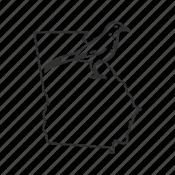 borders, georgia, map, state, state bird, state symbol, usa icon