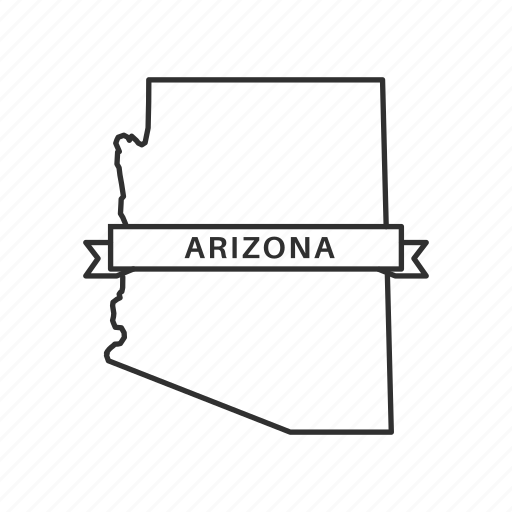 america, american state, arizona, borders, map, state, usa icon