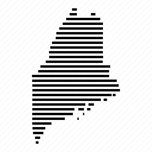 Maine, map, state, usa icon - Download on Iconfinder