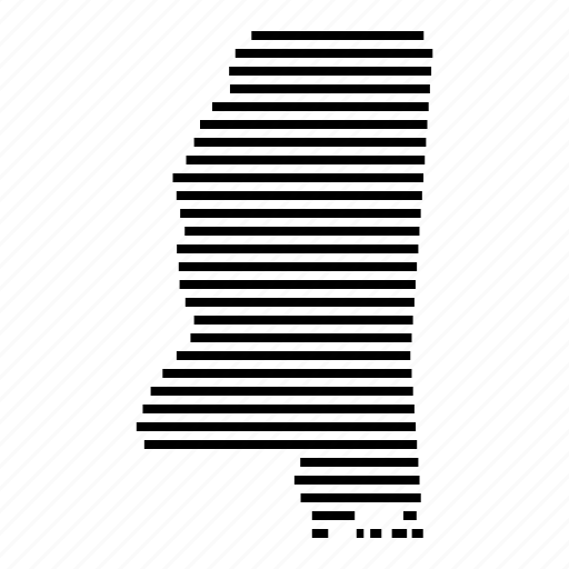 Map, mississippi, state, usa icon - Download on Iconfinder