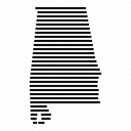 Alabama, map, state, usa icon - Download on Iconfinder