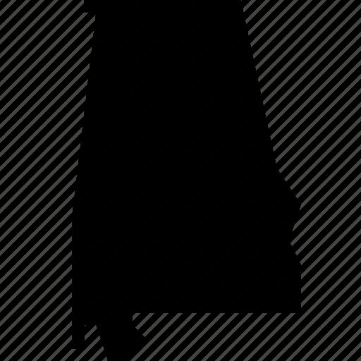 Alabama, map, state, states, united states, usa icon