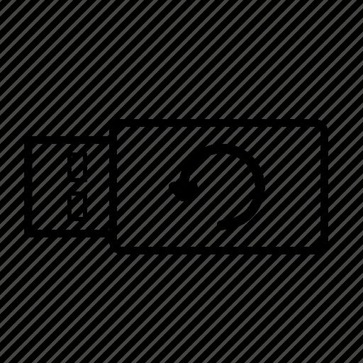 backup, memory, repeat, stick, storage, usb, usb stick icon