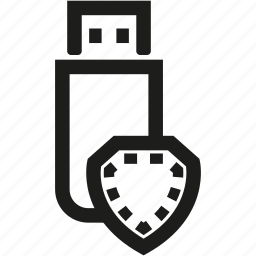 data, disk, shield, storage, usb icon