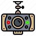 cam, camera, car, dvr, electronic, gadget icon