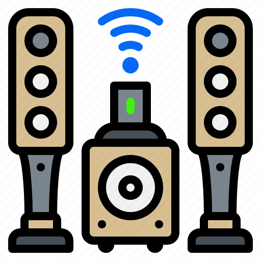 bluetooth, electronic, gadget, speakers, wifi icon
