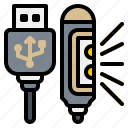 electronic, gadget, led, light, usb icon