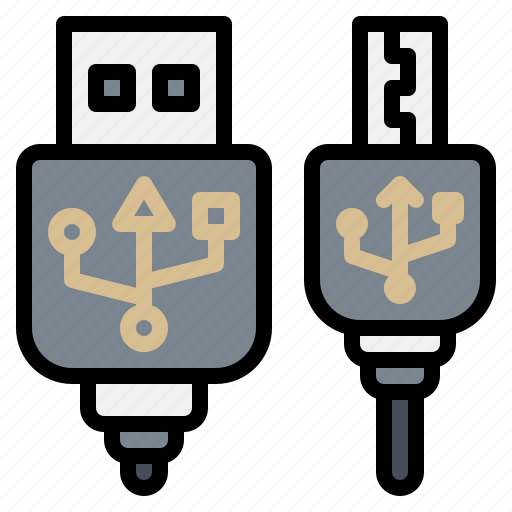 cable, electronic, gadget, port, usb icon
