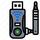 antena, electronic, gadget, usb, wifi icon