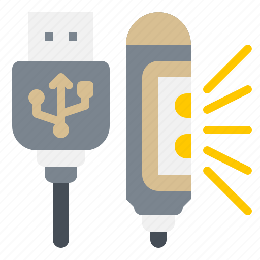 Electronic, gadget, led, light, usb icon - Download on Iconfinder