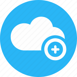 add, cloud, cloud computing, positive, save, thinking, weather icon