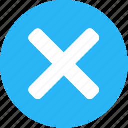 close, cross, delete, exit, not save, remove, trash icon
