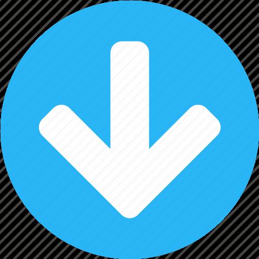 arrow, arrows, direction, down arrow, download, inbox, next icon
