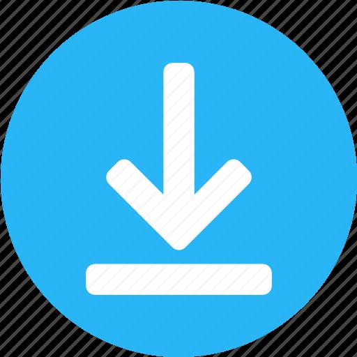 downarrow, download, downloading, guardar, inbox, receive, save, send icon