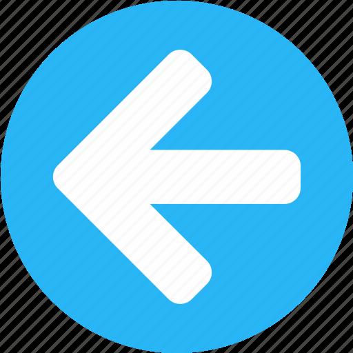 arrow, back, direction, left, left arrow, previous, review icon