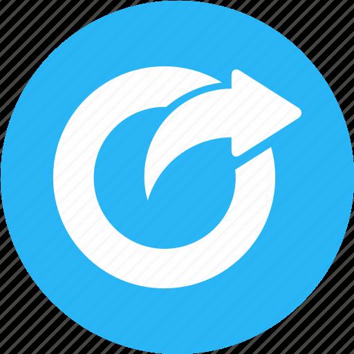 angle, direction, forward, move, refresh, rotate, rotation icon