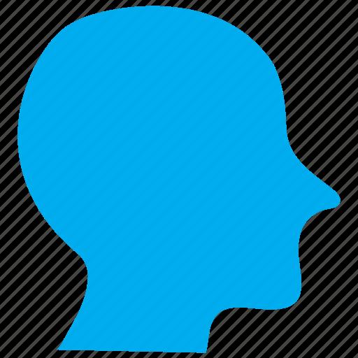 head, human, male, man, person, profile, user icon