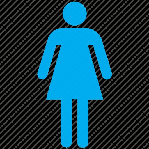 female, girl, human, person, profile, user, woman icon