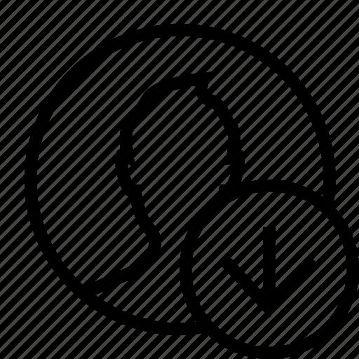 circle, download, man, profile, user icon