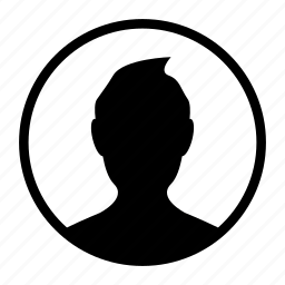 avatar, circle, dark, man, people, profile, user icon