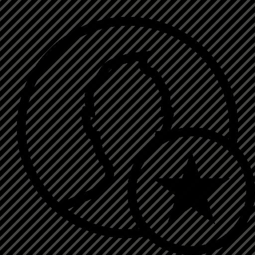 circle, favorite, favourite, man, popular, star, user icon