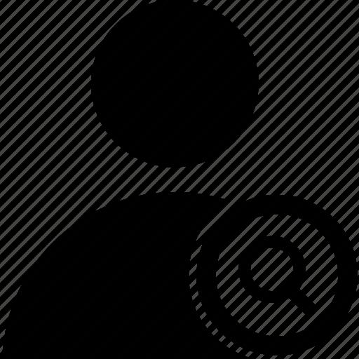 circle, search, user icon
