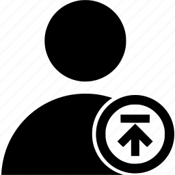 circle, upload, user icon