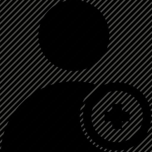 add, circle, user icon