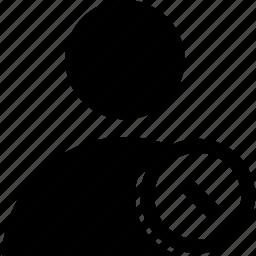 ban, circle, user icon