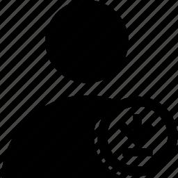circle, download, user icon