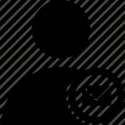 circle, message, user icon