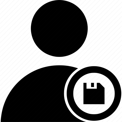 circle, guardar, save, user icon