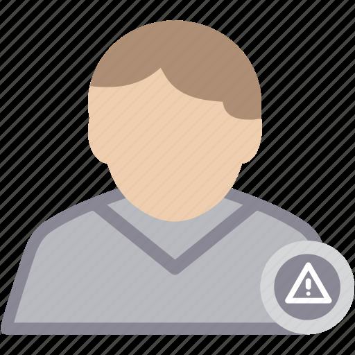 alert, male, man, person, profile, user icon