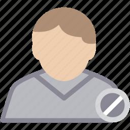 block, male, man, person, profile, user icon