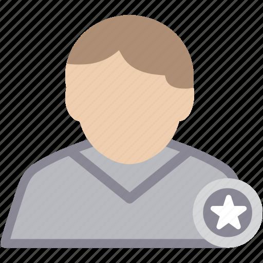 male, man, person, profile, star, user icon