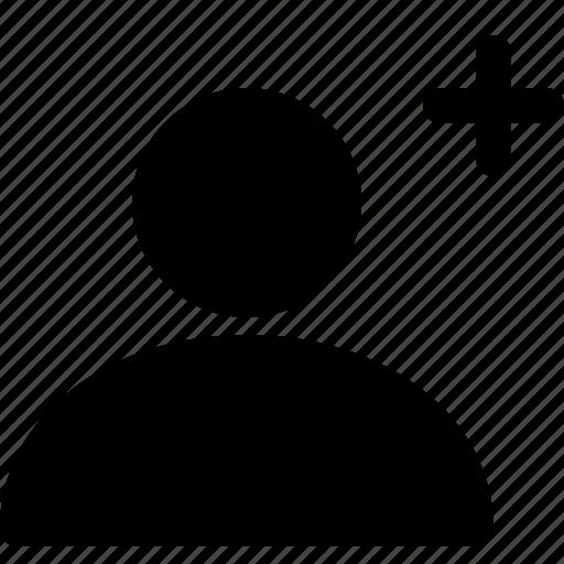 account, add, avatar, male, new user, profile, woman icon