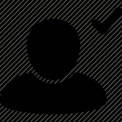 accept, account, avatar, done, male, profile, woman icon