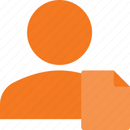action, document, people, user icon