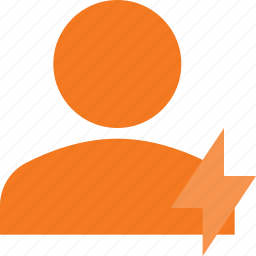 action, fast, people, user icon