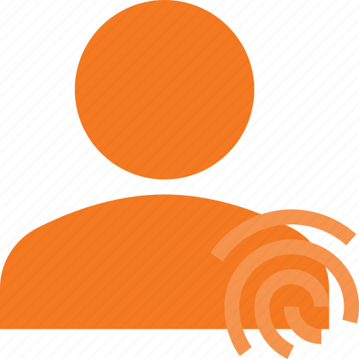 action, finger, id, people, print, touch, user icon