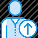 arrow, avatar, human, interface, people, up, user icon