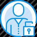 avatar, circle, human, interface, people, unlock, user icon