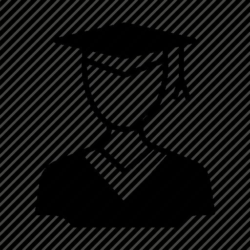 avatar, graduate, person, profile, student, user icon