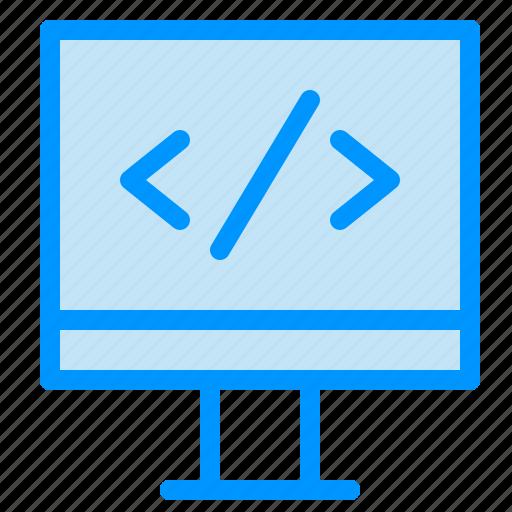 computer, development, monitor icon
