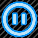 controls, media, pause icon