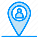 location, man, map icon