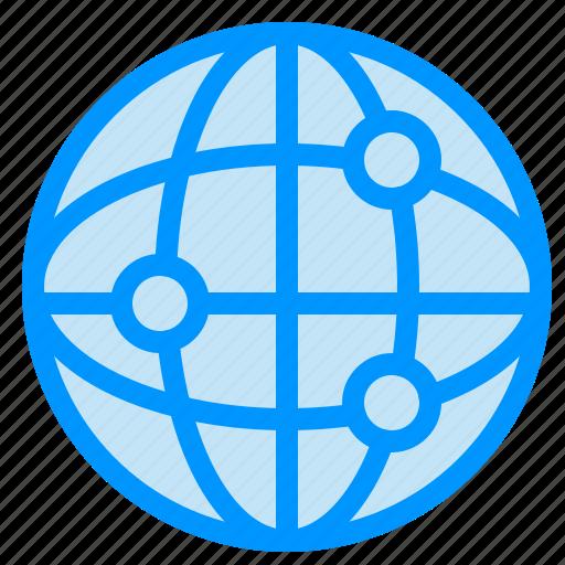 globe, internet, world icon